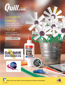 A 10% off coupon from Quill, part of the Competitively Bid Catalog Under Contract with CalSave for Office Supplies and Kitchen Equipment